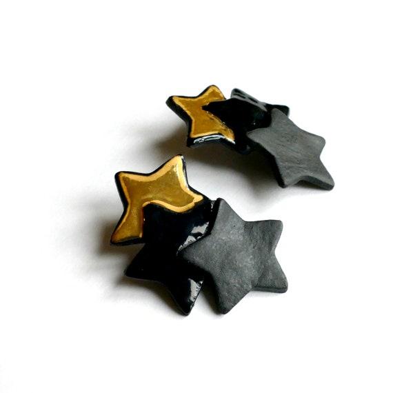 Triple Stars  big earrings