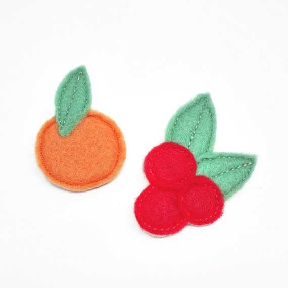Fruits double brooch