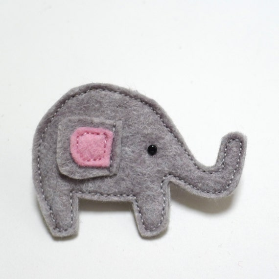 grey elephant brooch