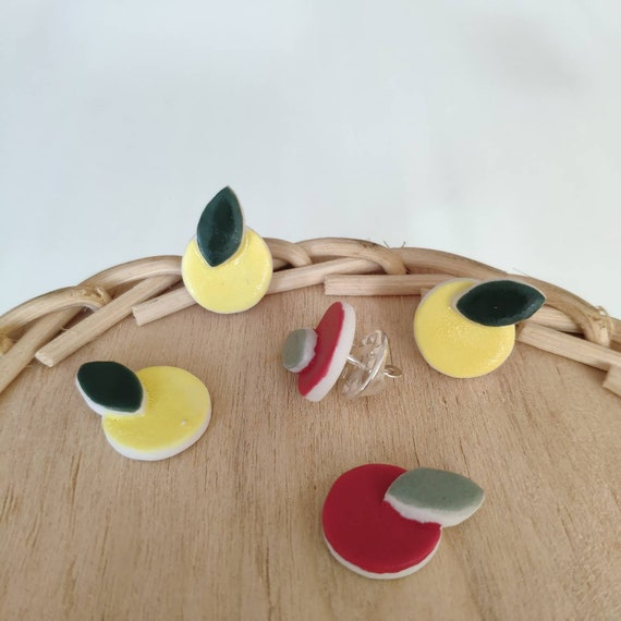 Porcelain fruits pin