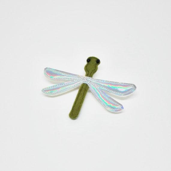 cute dragonfly brooch in felt