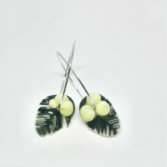 Porcelain Mimosa  earrings