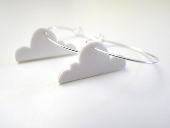 cloud hoop earrings