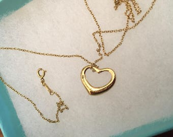 Tiffany Floating Heart 18K