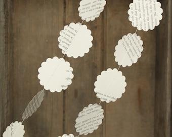 Wedding Decorations, Paper Garlands, Book Page Garland, Wedding Garland, Book themed party decoration, Paper Garland, 10 feet long