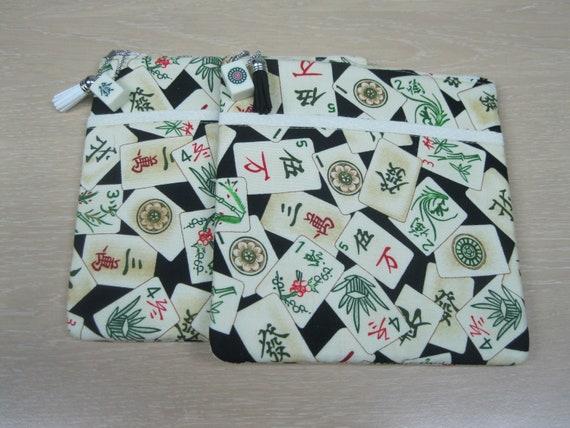 Mahjong bagpurse with green band