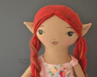 """Mara ~ héritage de poupée - poupée de chiffon à la main - Elf 14"""""""