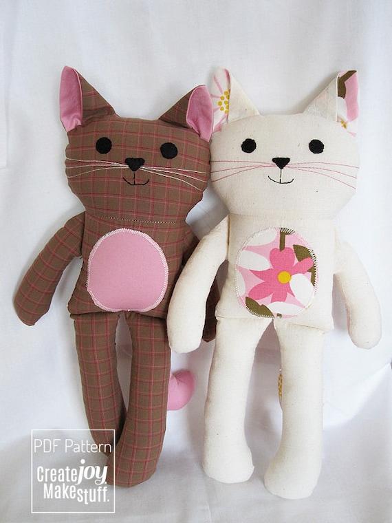 easy toy soft PDF printable Girl Doll Sewing Pattern stuffed softie Tutorial fabric cloth simple pdf cloth doll pattern