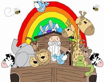 Noahs ark wall decal | Etsy