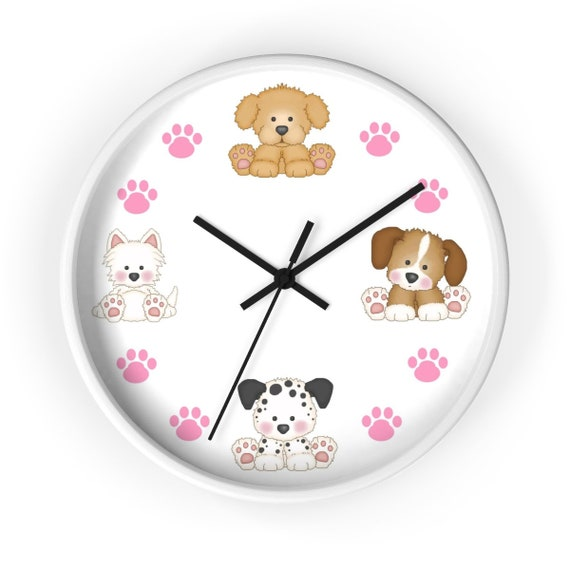 PINK LADYBUG WALL CLOCK NURSERY DECOR CHILDREN/'S PERSONALIZED LADY BUG PINK BABY