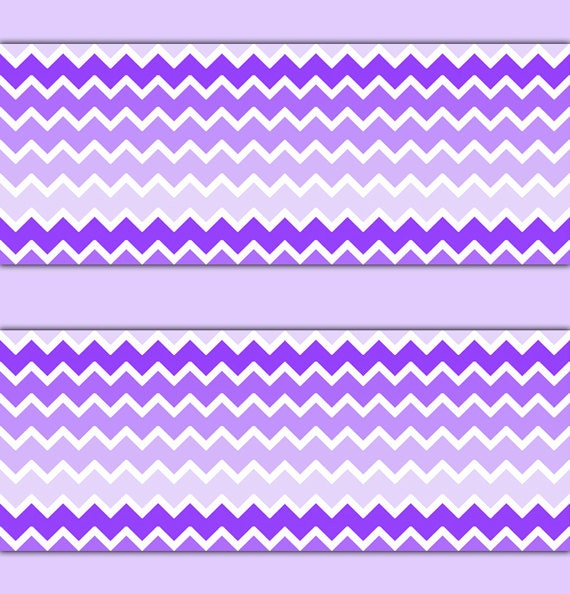 Purple Ombre Chevron Wallpaper Border Wall Decal Baby Girl Etsy