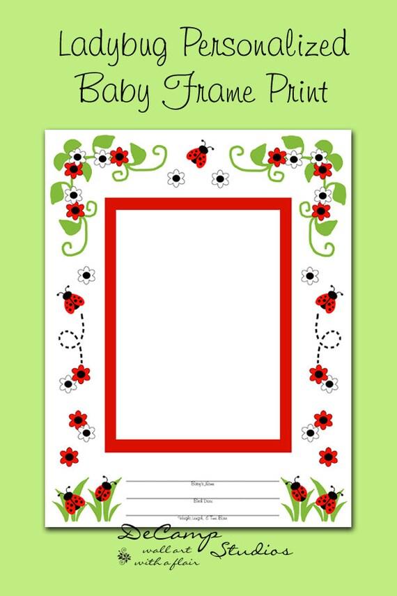 LADYBUG personalizado marco foto impresión Scrapbook Premade | Etsy