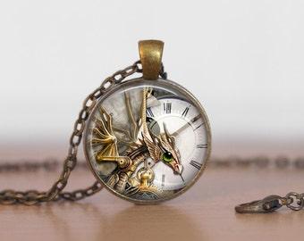 Dragon Steampunk Necklace, Steampunk Jewelry