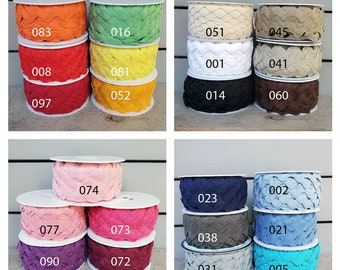"""Polyester 3//8/"""" Rick Rack 18 Color Choice Per 5 Yards"""