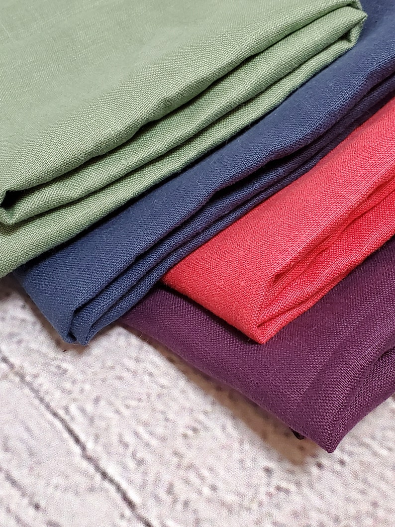great for dresses jumpsuits Grey linen fabric medium weight 54 wide 100/% linen skirts gray linen pants