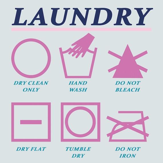 Laundry Instructions 8 X 8 Digital Download Print Etsy