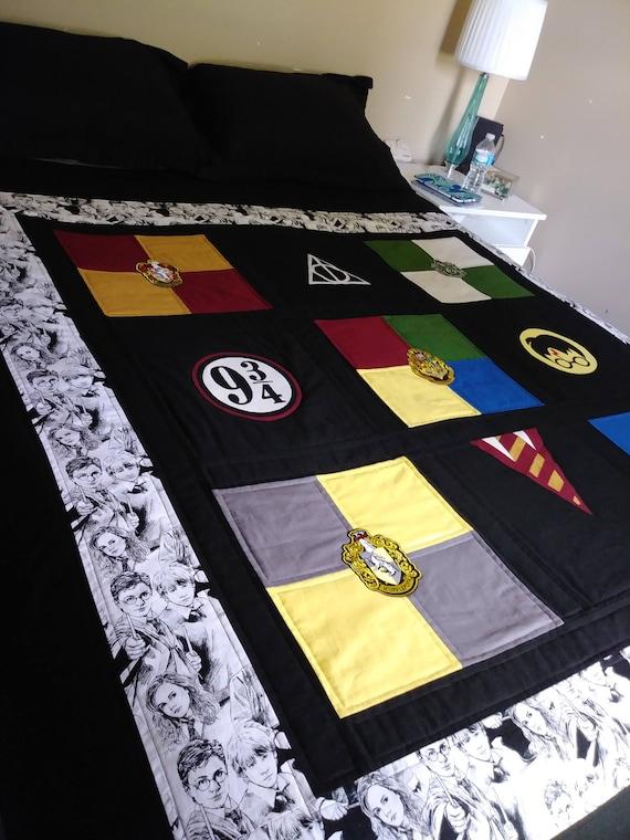 Couette Harry Potter Poudlard Maison Quilt Reliques De La Mort Griffindor Serpentard Poufsouffle Serdaigle Couette