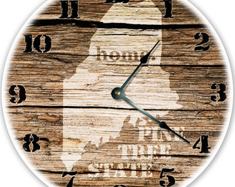 NEW JERSEY Established in 1787 COMPASS CLOCK Large 10.5 inch Wall Clock
