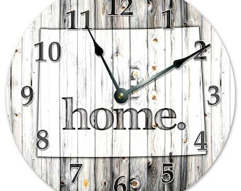 2232-16 Black and White State Map Clock Printed Wood Image Huge 15.5 inch to 16 inch Clock MINNESOTA STATE HOME Clock