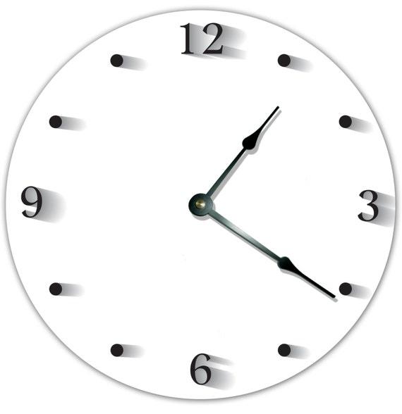 Orologio da cucina cabina semplice bianco nero orologio grande | Etsy