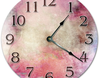 "10.5"" PINK PAINT Clock - Living Room Clock - Large 10.5"" Wall Clock - Home Décor Clock - 4079"
