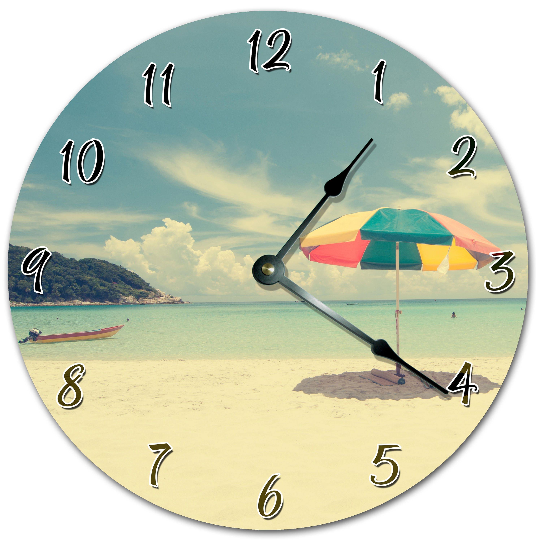 10.5 Cool Beach Side Clock - Living Room Clock - Large 10.5 Wall ...