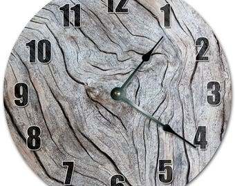 "10.5"" Cut Wood Design Clock - Living Room Clock - Large 10.5"" Wall Clock - Home Décor Clock - 5092"