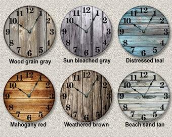 Rustic clocks Etsy