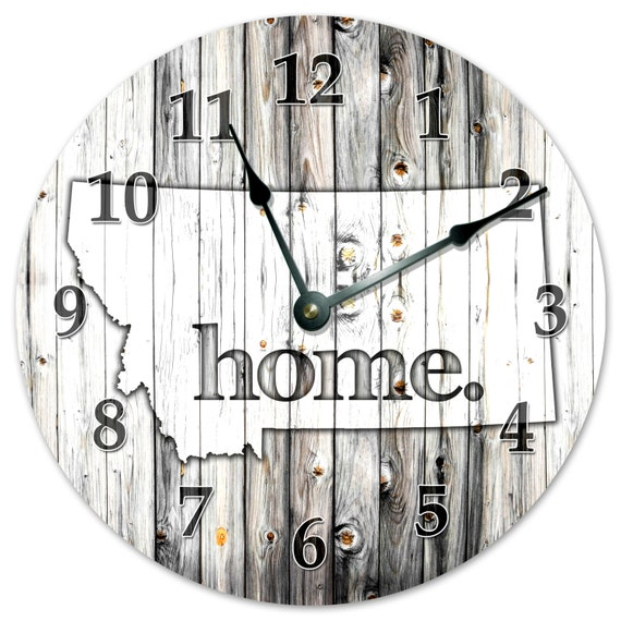 "Large 10.5/"" Wall Clock NEBRASKA RUSTIC HOME STATE CLOCK 2236"