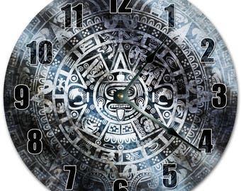 "10.5"" TOTEM Design Clock - Living Room Clock - Large 10.5"" Wall Clock - Home Décor Clock - 5272"