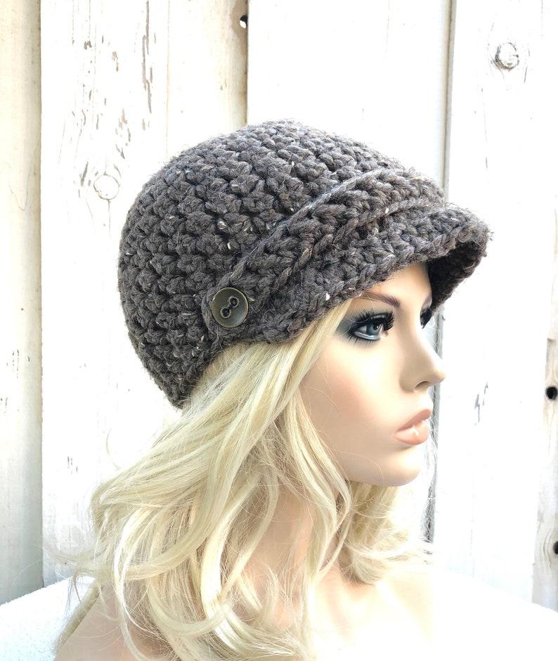 e38360ff632670 Womens hats crochet hat womens knit winter hats newsboy | Etsy