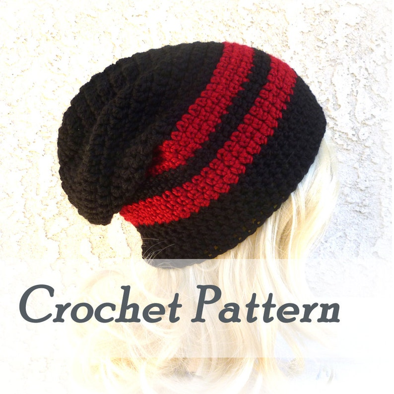 Instant Download Crochet Pattern Slouchy Beanie Mens Beanie Etsy