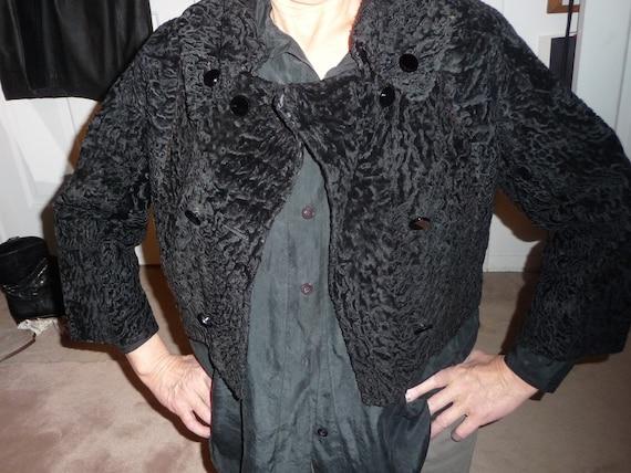 Black Lamb double breasted short jacket