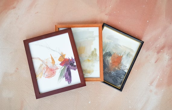 FRAMED MINI - Personalized Custom Abstract Painting from YOUR Photo | Unique Engagement gift, Anniversary gift, Wedding gift, Home Decor
