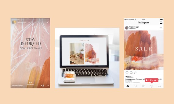 PREMIUM BOOST - Custom Branding Package - Abstract Art + Brand Identity
