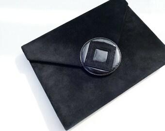 7bb6be6120b Authentic YSL Yves Saint Laurent 3ways Suede Shoulder Bag Clutch Bag Cross  Body Bag Vintage