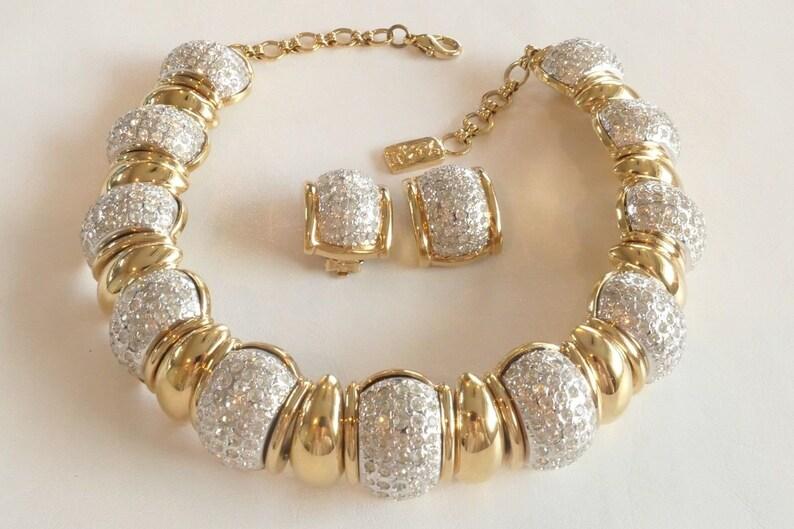 d2317665b70 Authentic YSL Yves Saint Laurent Gorgeous Gold Tone Vintage   Etsy
