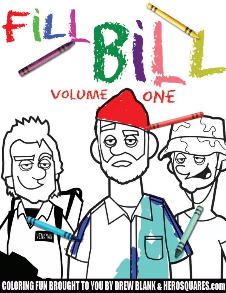 Bill Murray Adult Coloring Book