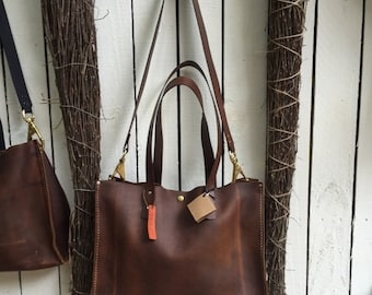 Crisp FALL Sale Distressed Leather Tote* Leather Tote with Carry Strap* Large Tote* Business Tote* Market Bag