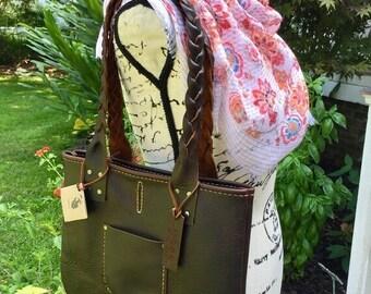 Crisp FALL Sale Leather Handbag* Leather Purse* Med Handbag* Soft Leather Handbag* Handmade in Raleigh  NC* Hand Stitched Leather