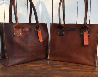 Crisp FALL Sale Distressed Brown Leather Handbag* The Bella* Small Brown Leather Purse* Custom Made in the USA