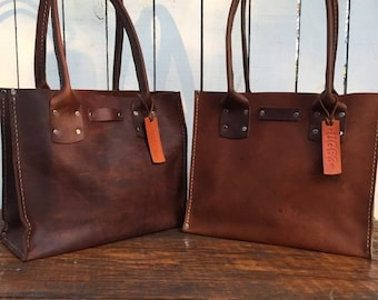 SALE SALE SALE Distressed Brown Leather Handbag* The Bella* Small Brown Leather Purse* Custom Made in the Usa