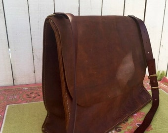 Crisp FALL Sale Leather Bag* Leather Computer Bag* Leather Commuter Bag* Leather Messenger Bag* Soft Brown Leather Bag