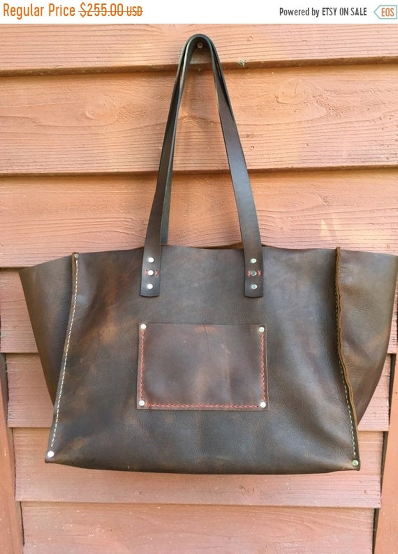 ddc92f298fe26 Hot Days of June Sale Extra Large Leather Tote* Big Leather Tote* XXX Large  Leather Bag* Giant Leather Tote* NC Custom Leather* Handmade