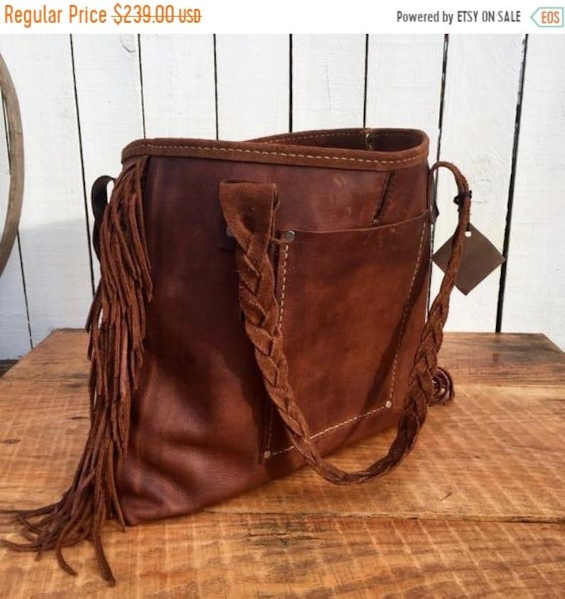 5e90c215560c8 Hot Days of June Sale Distressed Brown Handbag* The Danni* Tassels* Leather  Fringe* Wild Leather Handbag* Leather Bag* Handmade