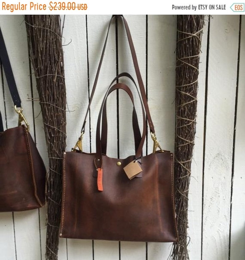 914016a4b711d Hot Days of June Sale Distressed Leather Tote* Leather Tote with Carry  Strap* Large Tote* Business Tote* Market Bag