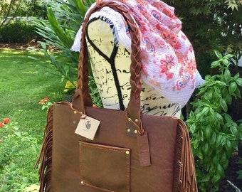 Crisp FALL Sale Leather Handbag* Fringed Leather Handbag* Soft Leather Handbag* Handmade Hand Stitched Leather* Custom Leather Bags