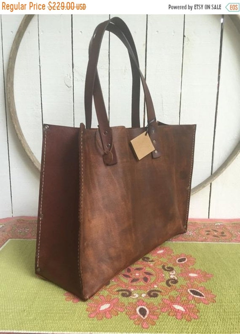 f914ba86c4dfb Hot Days of June Sale Distressed Brown Leather Kodiak Oak Tote* Distressed  Brown Leather Tote* Handmade in the USA