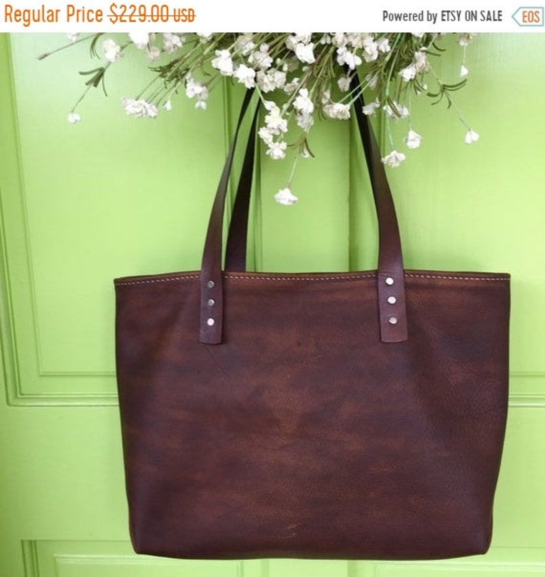 8fb09a3363d8e Hot Days of June Sale Small Soft Leather Handbag* Custom Made Handbag*  Leather Tote* Distressed Leather Bag* Handmade in the USA