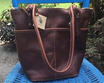Crisp FALL Sale Leather Handbag* Leather Bag* Brown Leather Handbag* Soft Leather Handbag* Hand Stitched Leather